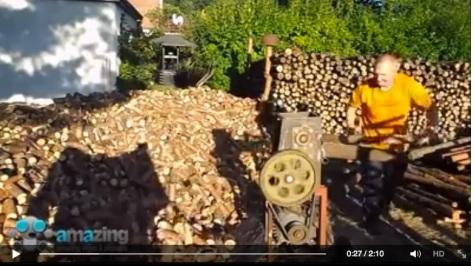 Effizient Holzhacken