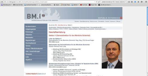 Bundesministerium für Inneres Geschäftsleitung