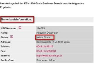Firma Österreich