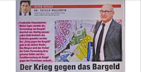 Krieg gegen das Bargeld Krone
