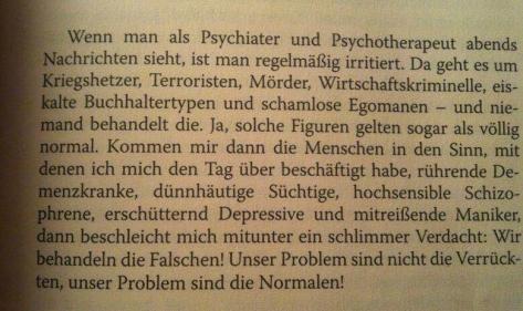 Psychotherapeut, wir behandeln die falschen