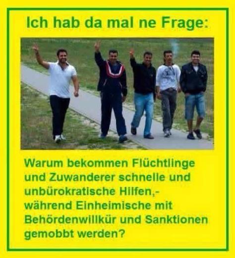 Flüchtlinge Einheimische