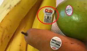 Ettiketten auf Nahrungsmitteln