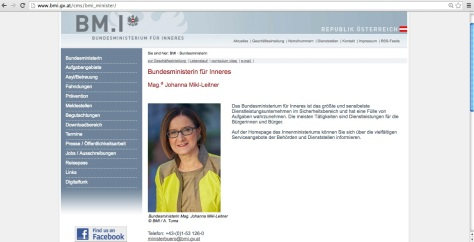 Österreich Innenministerium Dienstleistungsunternehmen