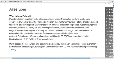 Patente in Österreich