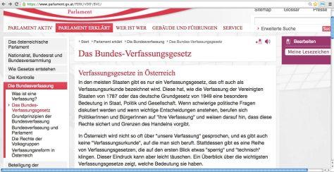 Österreich Bundes-Verfassungsgesetz