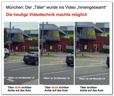 München Täter gebeamt